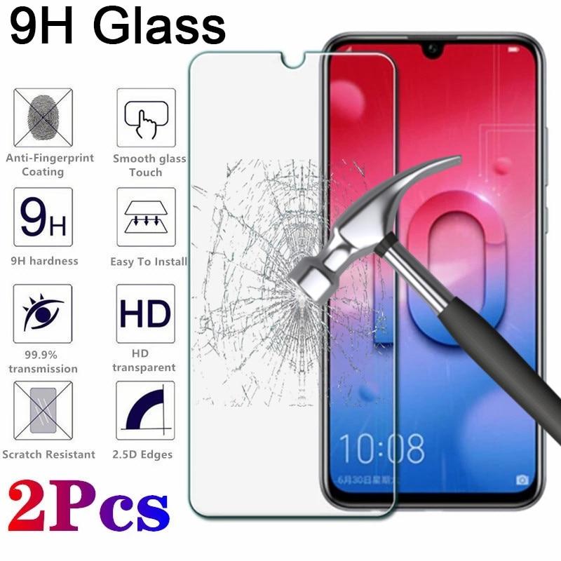 2 pçs hd vidro de proteção para huawei honor 20 pro 8 9 lite protetor de tela para honra 10 lite 10i 20i vidro temperado filme claro