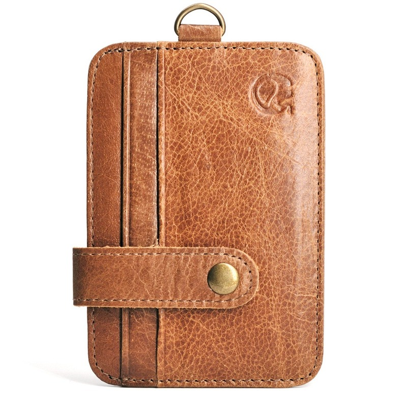 Genuine Leather Men's <font><b>Passport</b></font> Pack Business Card Holder Driver's License <font><b>Passport</b></font> cover Boys wallet holder credit card package image
