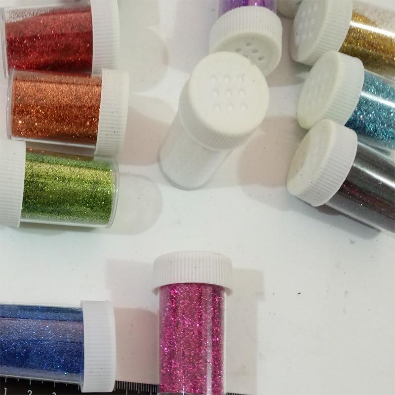 Best quality Nail Glitter Flakes 3D Sequins Paillette Powder Charm Nail Art Decoration Manicure tools W600