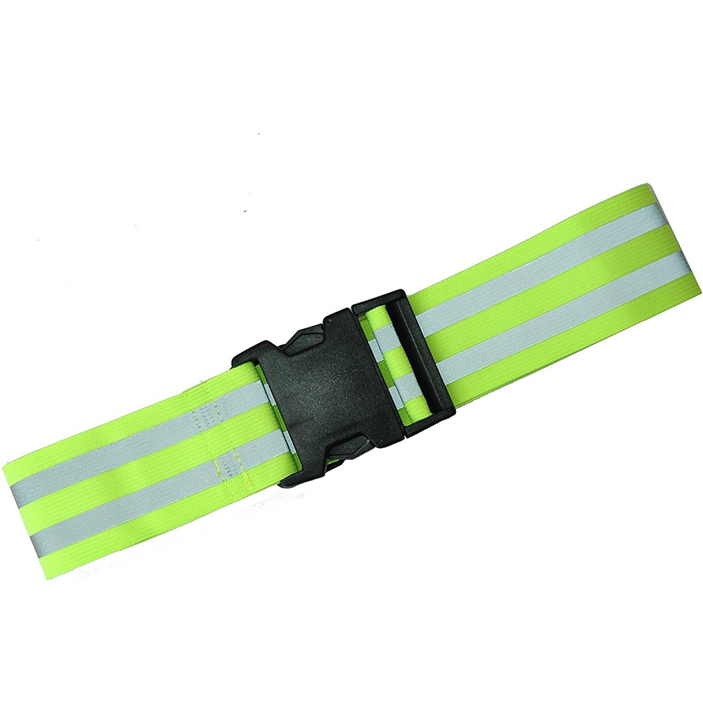 Men Women For Running Elastic Waistband High Visibility Adjustable Gift Biking Motorcycle Riding Reflective Belt Accessories