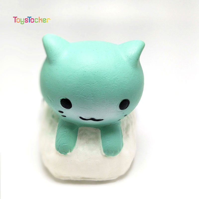 Coloured Cat Modeling Squishy Slow Rising Soft Squeeze Toy Phone Strap Scented Relieve Stress Funny Kid Xmas Gift