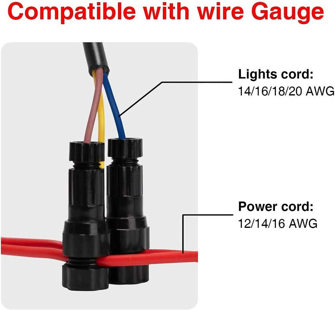low voltage landscape wire connector easy install landscape lighting customized connector 12 14 gauge wire cable connectors