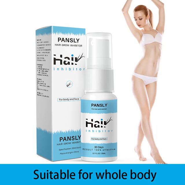 Painless 100% Natural Hair Remover Spay Hair Growth Inhibitor Spray Hair Removal From Body Legs Armpit Facial Unisex 3