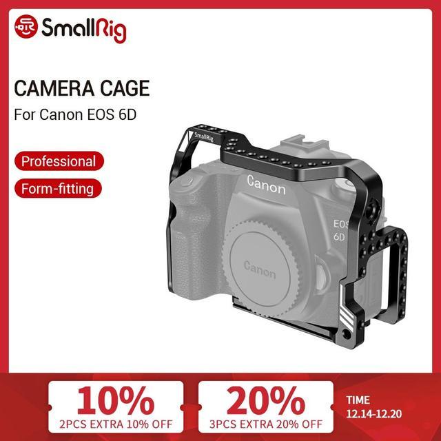 سمولتوير 6D شكل المناسب قفص لكانون EOS 6D هيكل قفصي الشكل للكاميرا مع المدمج في لوحة أركا و أري تحديد موقع الثقوب 2407