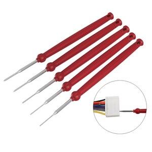 Image 2 - Nowy gorący 5 sztuk wtyczka samochodowa Terminal narzędzie do usuwania igła zwijacz Pick ściągacz naprawy elektryczne usuń drut ściągacz zestaw narzędzi ręcznych