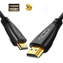 Kabel Mini HDMI do HDMI z męskiego na męskie 1080p 3D High speed pozłacana wtyczka Mini kabel HDMI do HDMI do projektora Notebook Camera