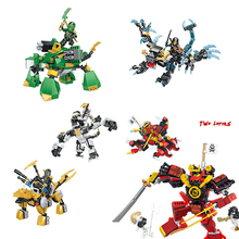 Compatible NINJAgoed Mech Two Forms Action MINI Figure Heroes With Weapons Zane Lloyd  ninja Building Blocks Toys for children compatible with lego ninja 70751 2150 pcs 06022 blocks ninja figure temple of airjitzu toys for children building blocks 70603