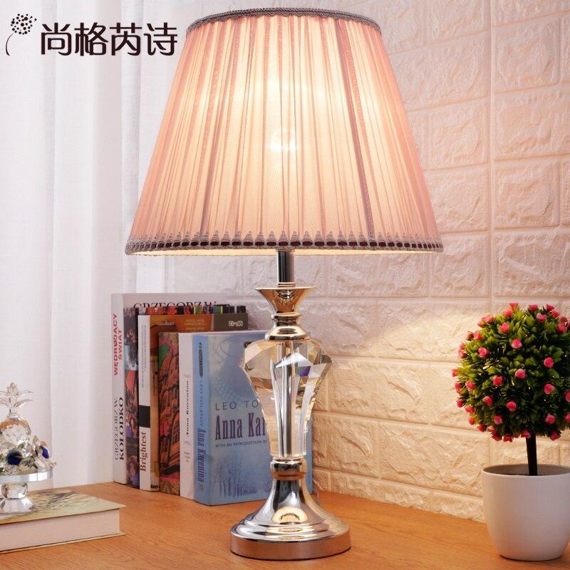 Креативная романтическая розовая хрустальная лампа принцессы для свадебной комнаты, настольные лампы для спальни и гостиной, красный тепл