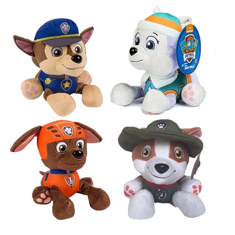 20CM paw patrol dog Skye plush psi patrol toy children toys movable doll plush doll model and paw patrol plush animal toy gift