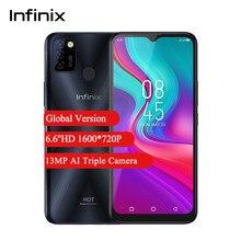 Versión Global Infinix Hot 10 Lite teléfono móvil 2GB 32GB 6,6 ''HD + Helio A20 Qual-core 13MP Triple 5000mAh Cámara teléfono celular