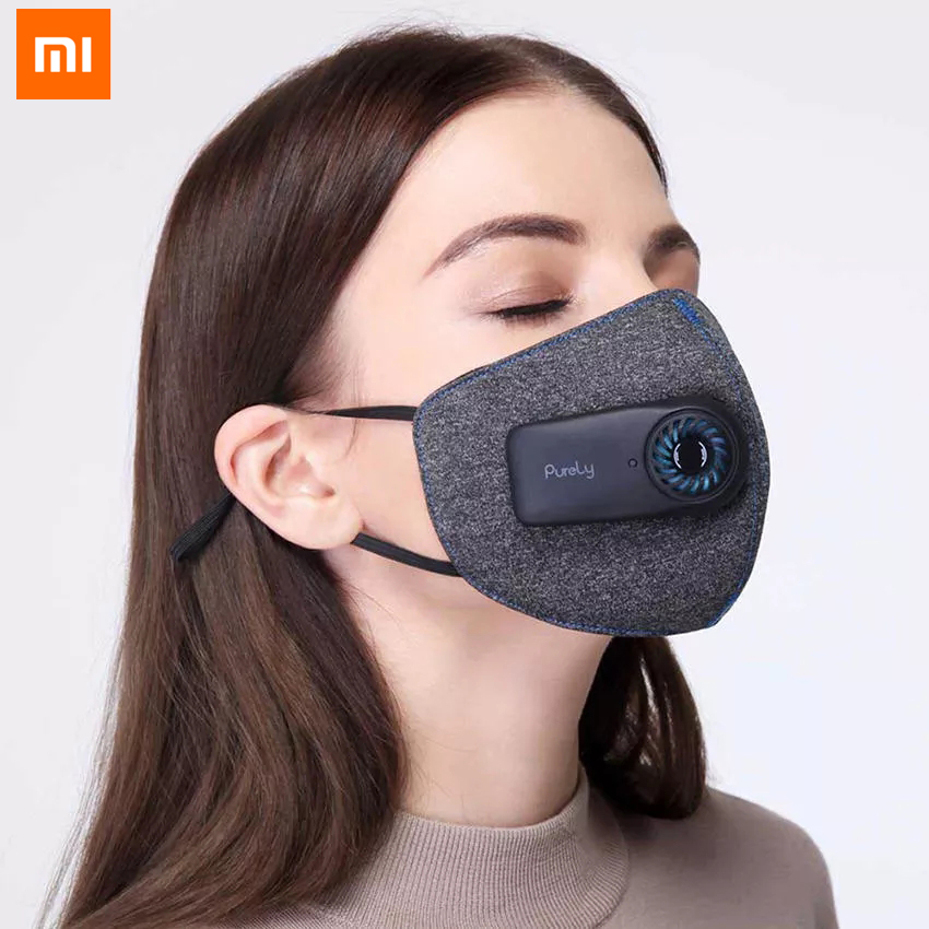 Original XiaoMi KN95 Rechargeable Electric Exhaust Mouth Face Mask PM2.5 Anti Air Pollution Anti Dust Air Breathing Mask