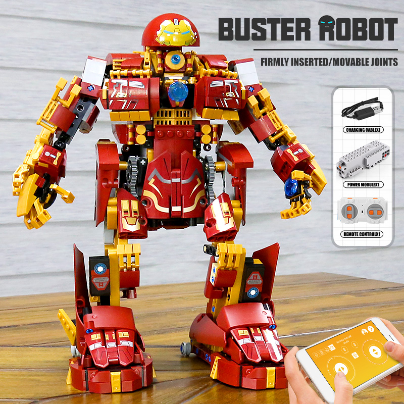 MOULD KING 15039 The APP RC Motorized MK Buster Robot Model