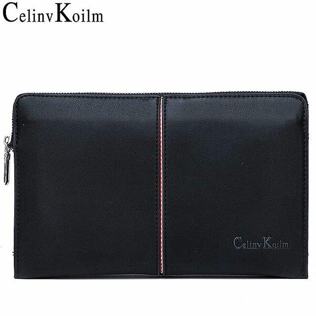 Celinv Koilm الفاخرة العلامة التجارية الرجال حقيبة يد يوم براثن حقائب للهاتف عالية الجودة Spilt محفظة جلدية حقيبة اليد سعة كبيرة