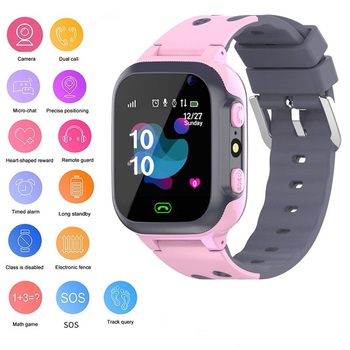 Cute Design Locator Tracker Kids Smart watch SOS Safe  2G SIM Card Long Standby Time Brain Development Game Smartwatch