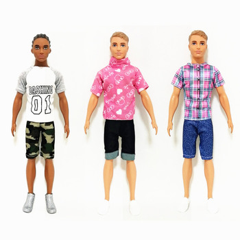 Fashion Ken Street Fashion Outfits Set for Barbie  BJD Doll Clothes  Accessories Play House Dressing Up  Kids Toys ken the boyfriend swimming pants outfits for barbie bjd doll clothes accessories play house dressing up kids toys