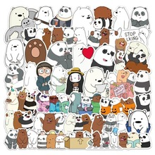107 Pcs/set Bears Stickers Crtoon Cute Little Bear Sticker PVC Waterproof Graffiti Sticker for Laptop Luggage