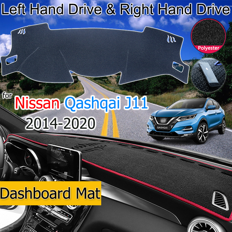 For Nissan Qashqai J11 2014-2020 Anti-Slip Mat Dashboard Cover Pad Sunshade Dashmat Dash Carpet Car Accessories