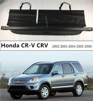 For Car Rear Trunk Security Shield Cargo Cover For Honda CR-V CRV 2002 2003 2004 2005 2006 Black Beige Auto Accessories