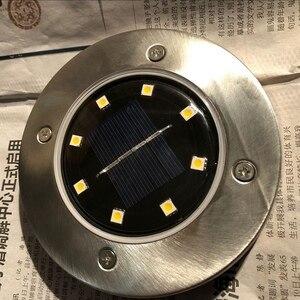 Image 5 - 10 قطعة مقاوم للماء IP65 8 LED الشمسية تحت الأرض أضواء الفولاذ المقاوم للصدأ الشمسية دفن الطابق ضوء في الهواء الطلق حديقة مسار أضواء الأرض