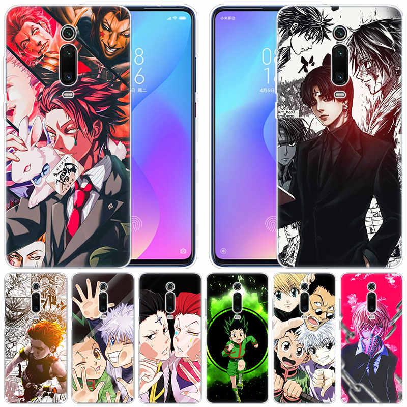 Capa de silicone macio para celular, caçador de anime, x, hunter, hisoka, para xiaomi, pocophone, f1, mi 9t pro, cc9, cc9e, 9 9se 8 a3 a2 lite a1 5x 6x mix3 play,