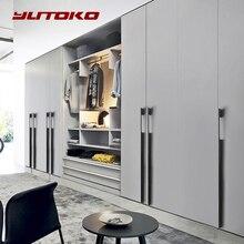 Yutoko Black Gold Long 800mm 1000mm Cabinet Handles Drawer Bedroom Pull Knobs Aluminum Door Handle Vintage Furniture Hardware
