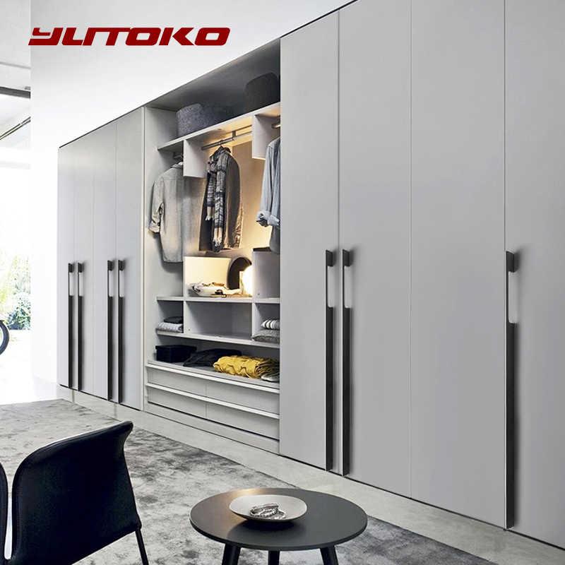 Yutoko Schwarz Gold Lange 800mm 1000mm Schrank Griffe Schublade Schlafzimmer Pull Knöpfe Aluminium Tür Griff Vintage Möbel Hardware