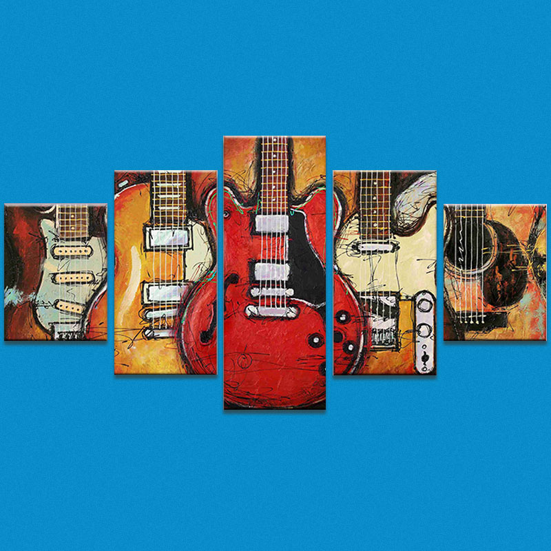 Home Decor Oil Painting 20 X <font><b>30</b></font> X 2 + 20 X <font><b>40</b></font> X 2 + 20 X 50 X 1cm Wall Guitar Printed Poster Size Wall Art Canvas Canvas image
