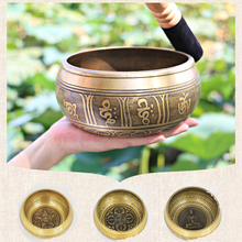 Tibetan Singing Bowl Buddhist Brass Yoga Meditation wall dishes Home Decoration Nepal Chakra