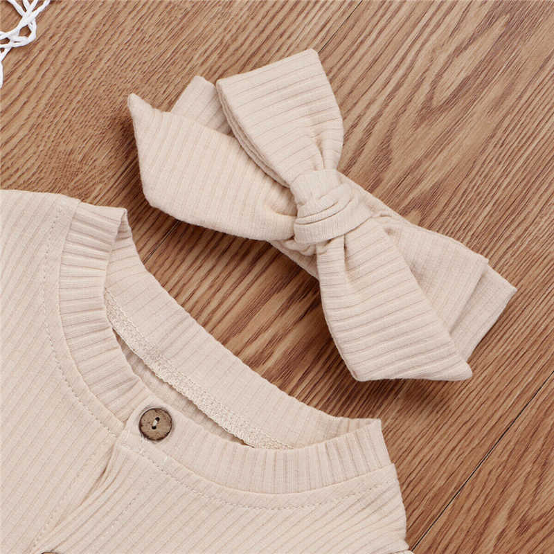UK Newborn Baby Girl Boy 2PCS Autumn Clothes Set Knitted Romper Jumpsuit Outfits