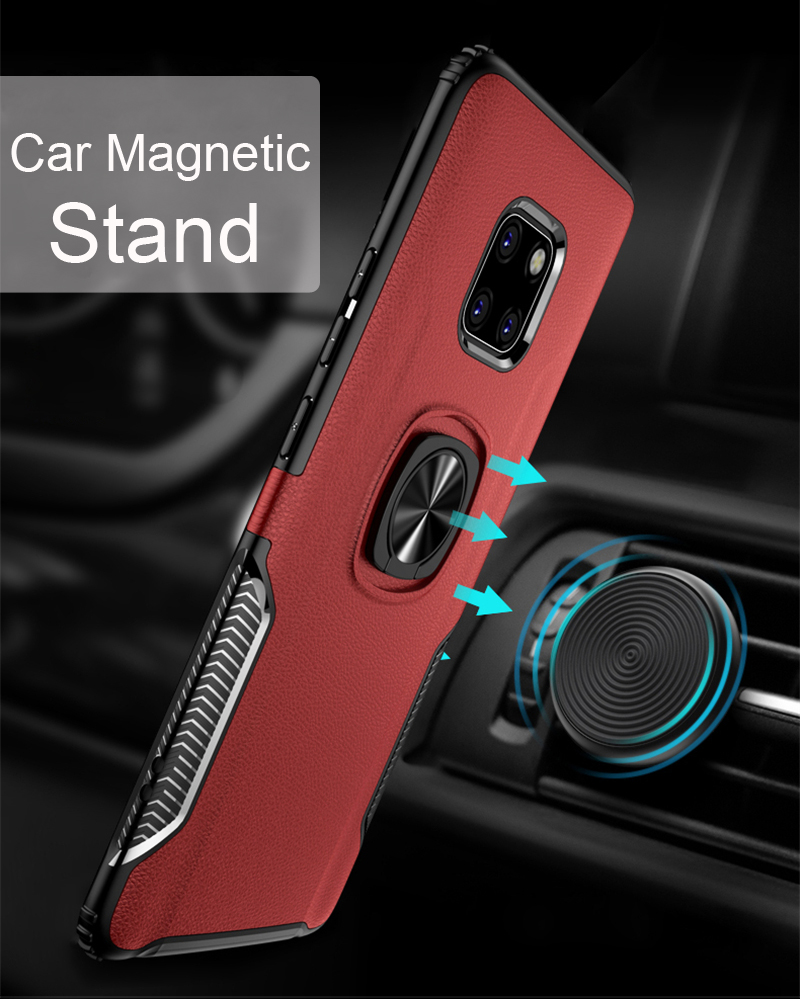 Shockproof Metal Bracket Armor Case for Huawei P20 Pro Mate 20 Lite X 10 20Pro 20X Nova 3 i 3i 10 P 20 Pocophone F1 Case Cover in Fitted Cases from Cellphones Telecommunications