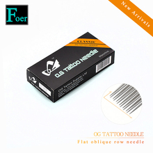 Flat Oblique Row Tattoo Cartridge Needles Box Of 50pcs Revolution Disposable Sterile For Pen Liner Shade