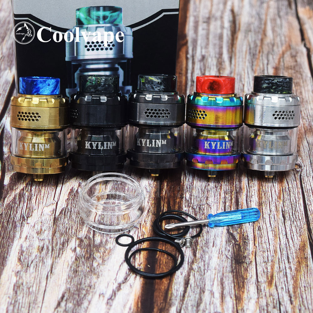 Coolvape Vape Atomizer MAGE Kylin V2 RTA M RTA Base 24mm 3ml/4.5ml Tank Top Honeycomb Airflow Large Build Deck Vaporizer Tank