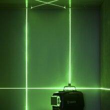 Laser-Level-Horizontal Vertical-Cross-Lines 12-Lines Outdoors Green Deko Dc And 3D