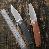 Yon xanadu faca 14c28n lâmina ao ar livre tático facas de dobramento micarta lidar com acampamento auto-defesa ferramenta de bolso edc caça cortador