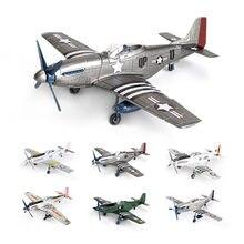 Модель 1/48 MUSTANG P-51D Fighter 4D, Сборная модель американского самолета Второй мировой войны P51 без клея, 6 цветов, быстрая сборка, игрушка