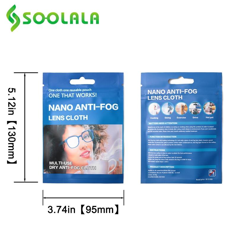 SOOLALA 6pcs 15x14.5cm Eyeglasses Anti-Fog Cloth Microfiber Fabric Glasses Cleaner for Spectacles Lenses Camera Phone Screen 2