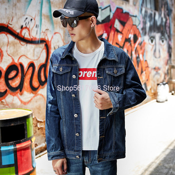 Men Cowboy Jacket Super Brand Korean Cowboy Shirt Cowboy Top Leisure Cowboy Coat Wear Resistant Work Clothes фото