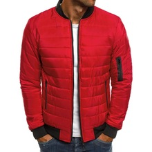 Mens Cotton-padded Jacket Winter Cotton Clothes Jackets and Coats Men Parka