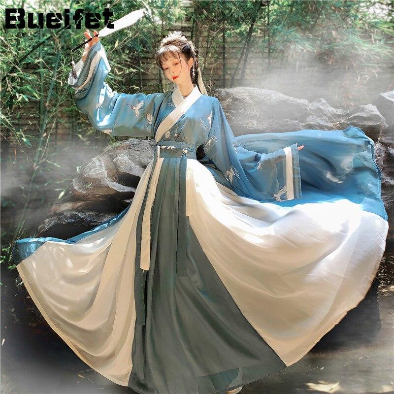 Vestido chinês estilo oriental fada hanfu traje cosplay antigo tradicional elegante dinastia tang princesa desempenho roupas
