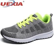 UEXIA/мужские кроссовки с дышащей сеткой; Новинка года; унисекс; пара; Летние слипоны на платформе; мягкая прогулочная обувь; мужская обувь