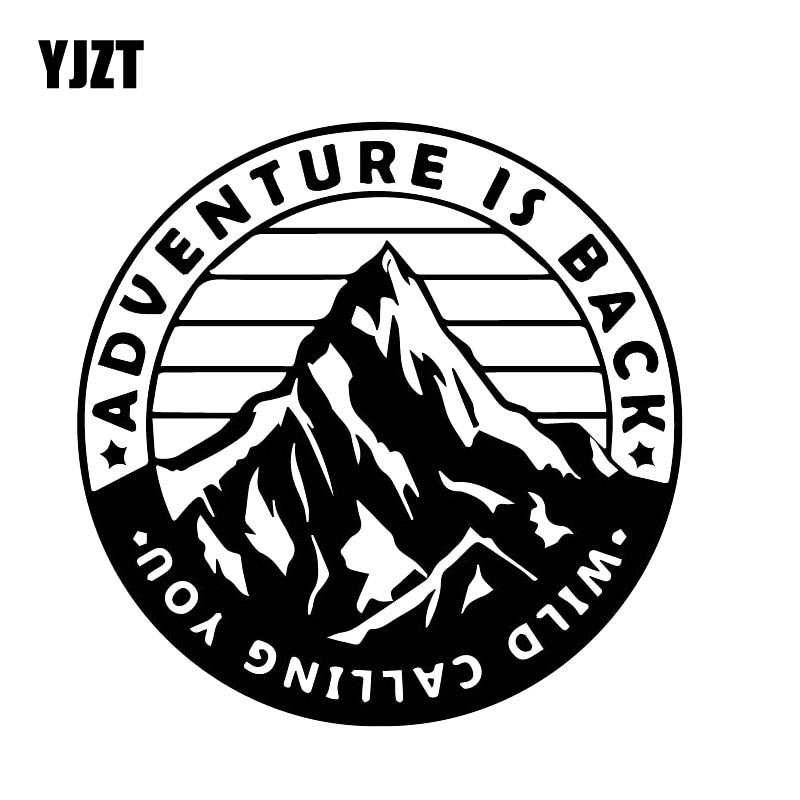 YJZT 15CM*15CM Fun Mountain Climbing Adventurer Decal Car Cover Scratch Fashion Car Sticker Black/Silver C30-0508
