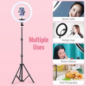 """Image 3 - 10 """"USB Selfie Vòng Sáng Đèn Âm Trần LED Selfie Vòng Ánh Sáng Với 3 Chân Cho Điện Thoại Video Trực Tiếp Studio Chụp Ảnh ringlight Bộ"""