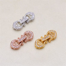 Wholesale Superior Quality Metal Zircon Silver/Gold/Rose Gold Clasps Hooks For Bracelet Necklace Connectors DIY Jewelry Making K025(China)