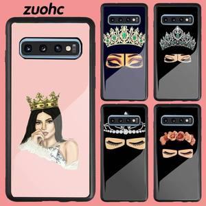 Arabic Hijab Girl Phone Case Acrylic Plexiglass TPU For Samsung Galaxy S8 S7 S9 S10 S10e S20 PLUS ULTRA S6edge