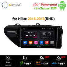 Ownice 64G 4G  Android 9.0 car radio 2din auto DVD on-board computer Navigation GPS AUDIO headunit for Toyota Hilux 2016 - 2018