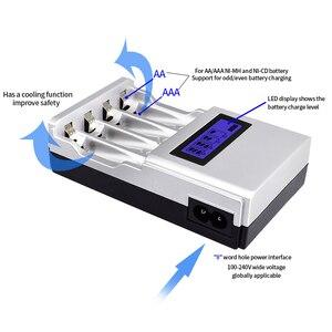 Image 5 - PALO vente en gros 4 fentes LCD affichage Intelligent chargeur de batterie Intelligent pour AA/AAA NiCd NiMh Batteries rechargeables