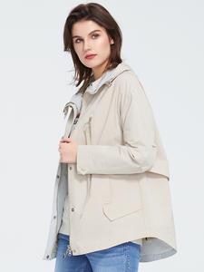 Astrid 2020 новый весенний модный короткий плащ с капюшоном высокого качества городская женская верхняя одежда трендовая Свободная куртка тонк...