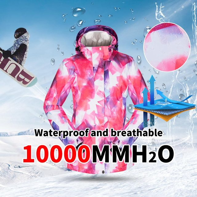 -30 degree Ski Suit Women Winter Female Jackets and Pants Warm Waterproof Women's Jacket Outdoor Snowboard Cycling Camping Brand 4
