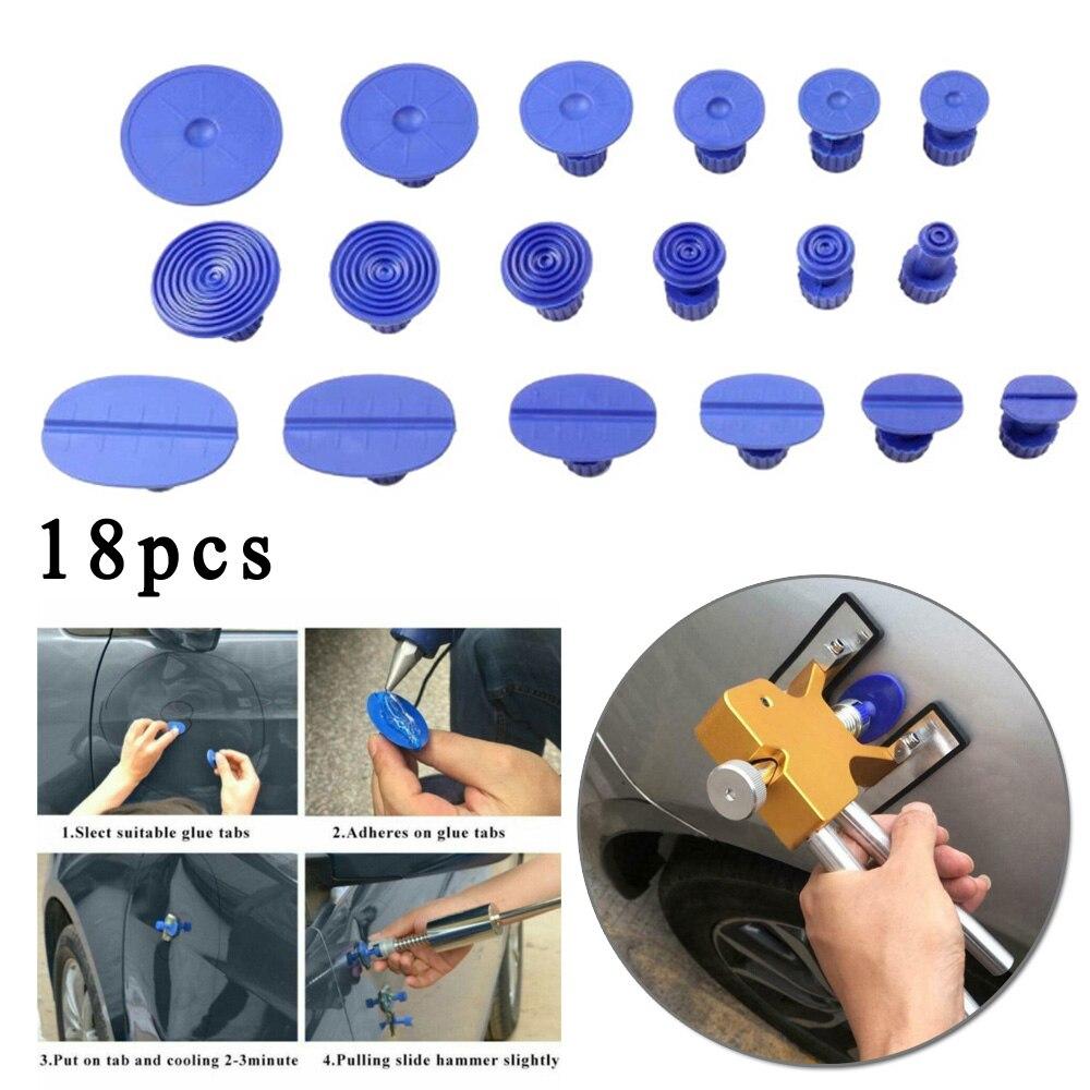18pcs/Set Car Blue Automotive Sheet Metal Repair Dent Gasket Reinforced Sucker Plastic Gasket High Quality