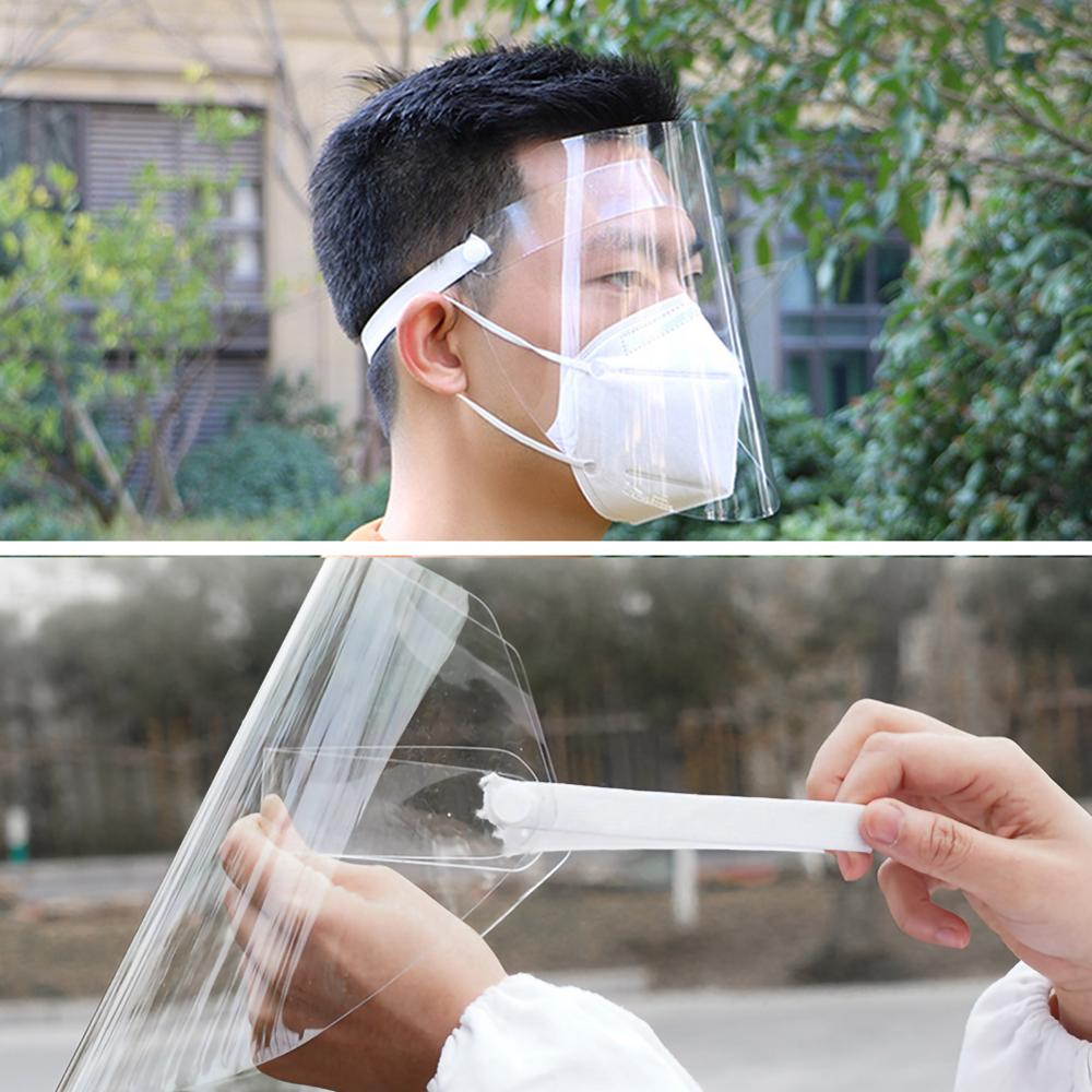 1Pc Clear Face Cover and Transparent Face Shield for Full Face and Eye Protection 2